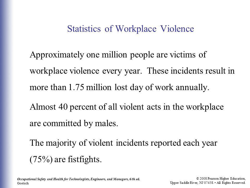 Statistics of Workplace Violence