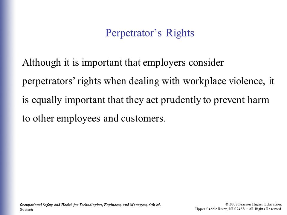 Perpetrator's Rights