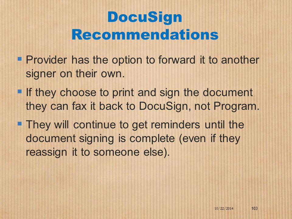 DocuSign Recommendations
