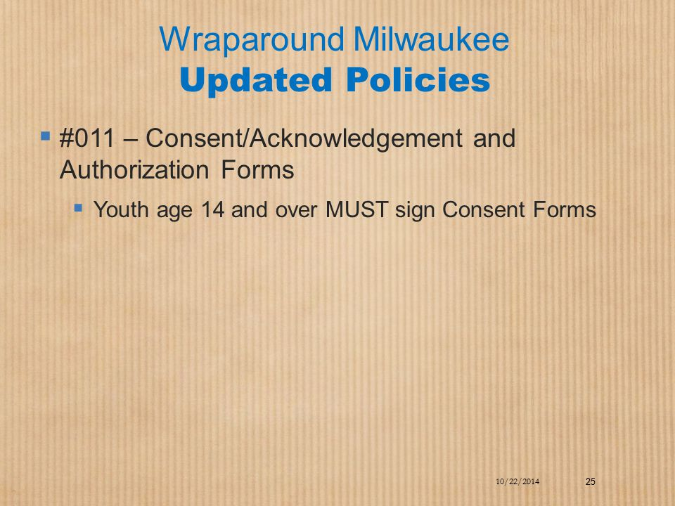 Wraparound Milwaukee Updated Policies