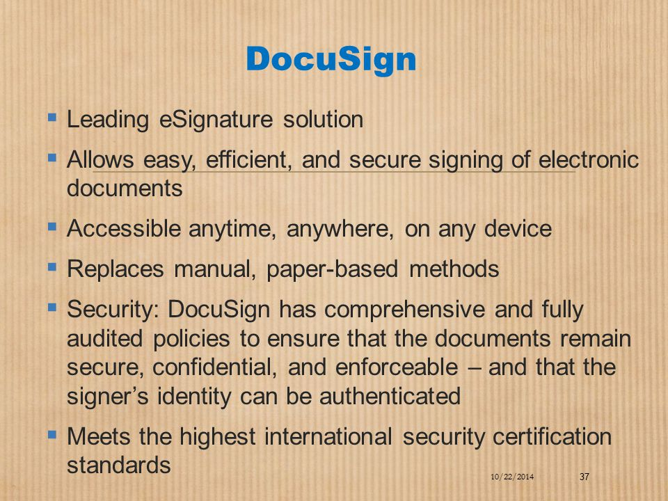 DocuSign Leading eSignature solution