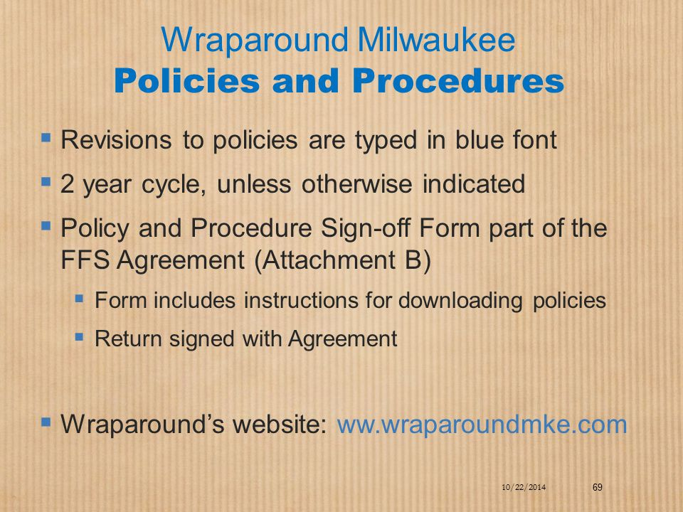 Wraparound Milwaukee Policies and Procedures