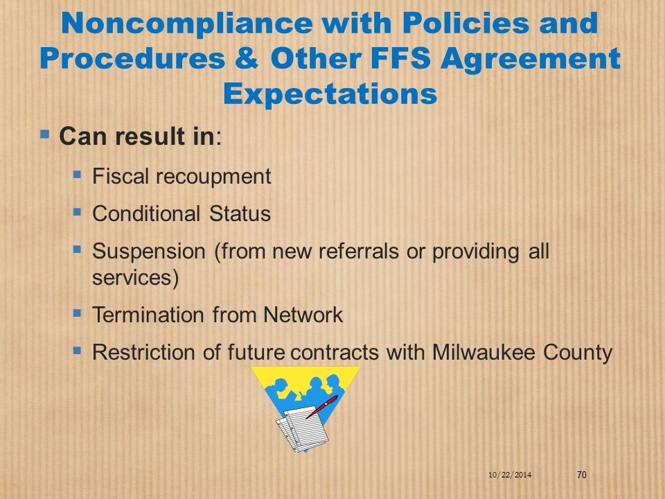 Noncompliance with Policies and Procedures & Other FFS Agreement Expectations