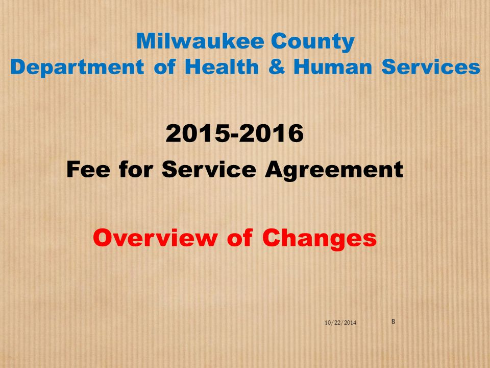 Milwaukee County Department of Health & Human Services