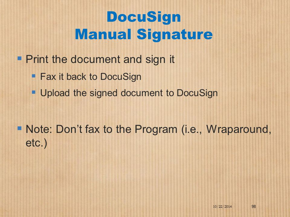 DocuSign Manual Signature
