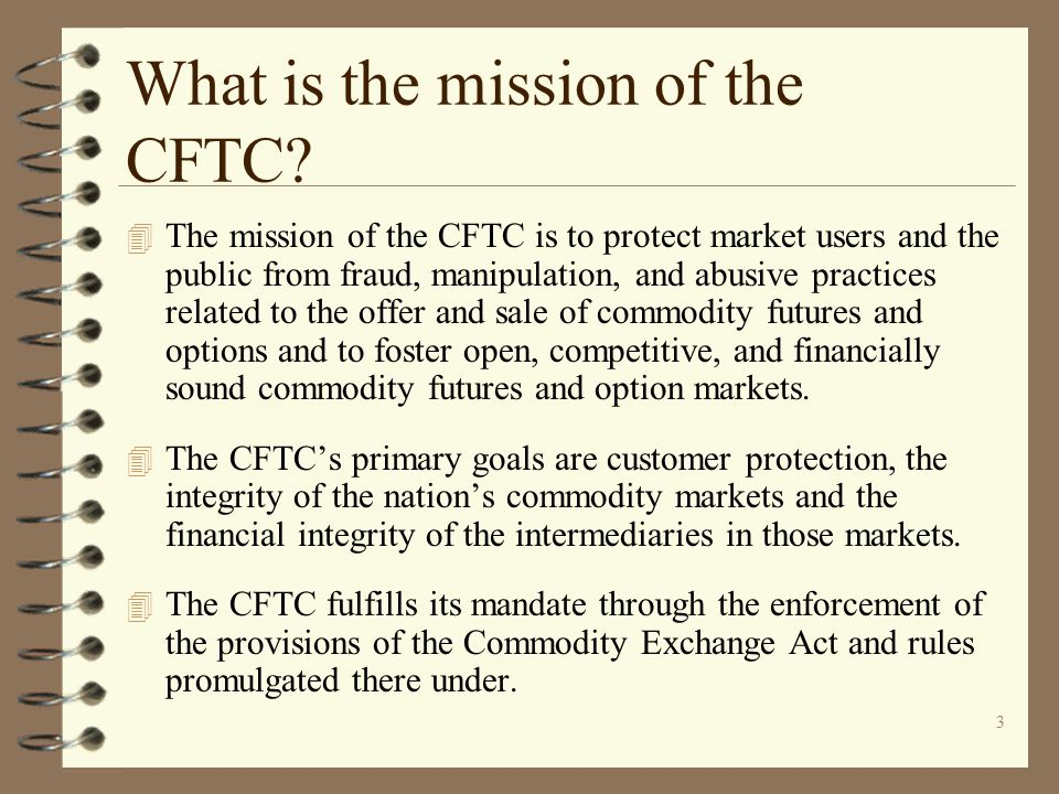 What is the mission of the CFTC