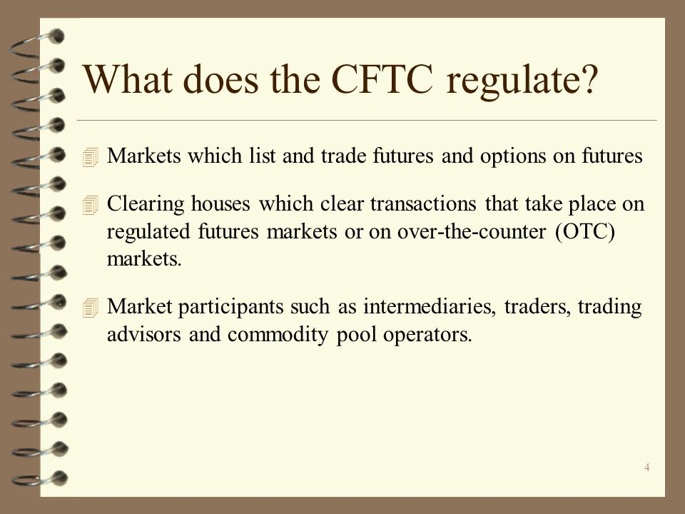 What does the CFTC regulate