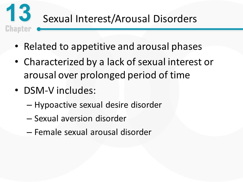 Counseling for sexual disorder