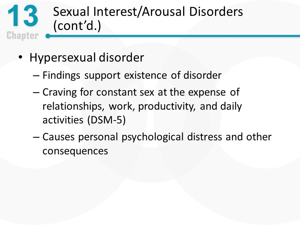 Sexual Interest/Arousal Disorders (cont'd.)