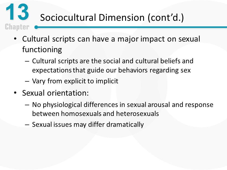 Sociocultural Dimension (cont'd.)