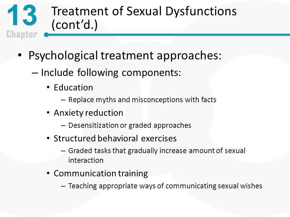Treatment of Sexual Dysfunctions (cont'd.)