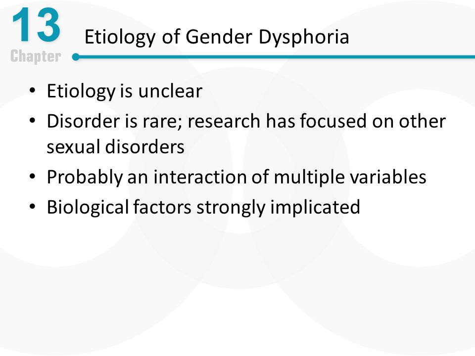 Etiology of Gender Dysphoria