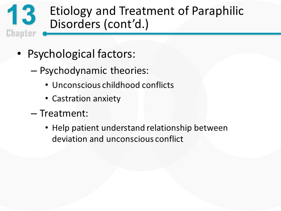 Theoretical perspectives on paraphilias treatment