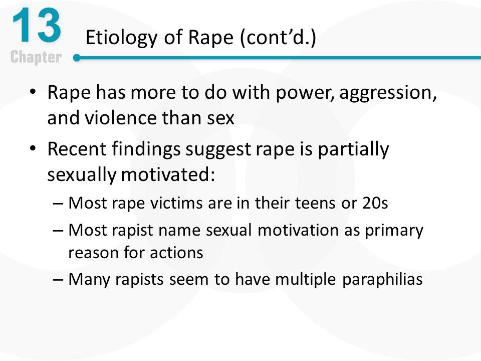 Etiology of Rape (cont'd.)
