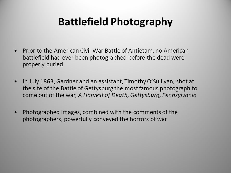 Battlefield Photography