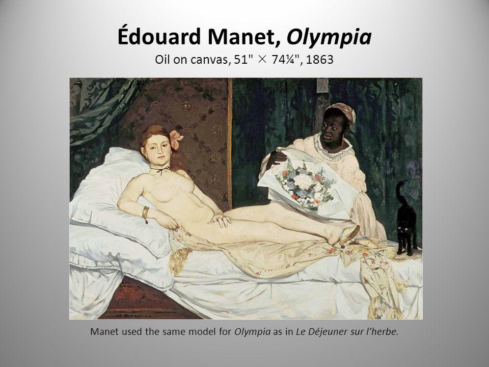 Édouard Manet, Olympia Oil on canvas, 51  74¼ , 1863