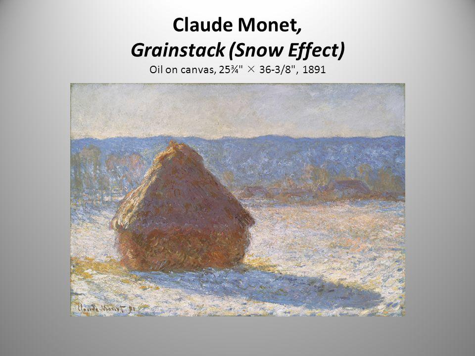 Claude Monet, Grainstack (Snow Effect) Oil on canvas, 25¾  36-3/8 , 1891