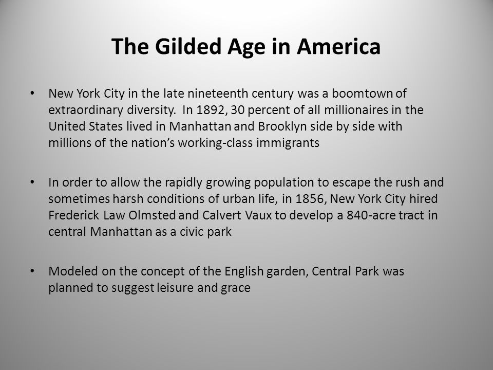 The Gilded Age in America