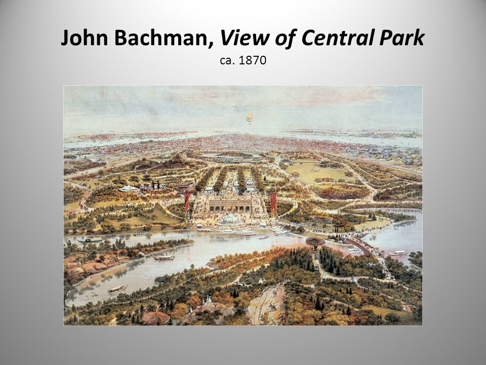 John Bachman, View of Central Park ca. 1870
