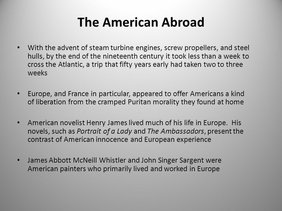 The American Abroad