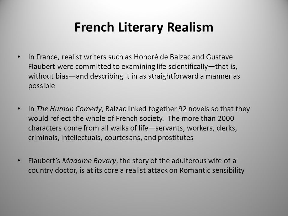 French Literary Realism