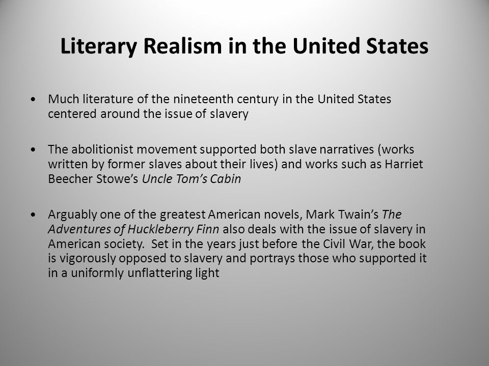 Literary Realism in the United States