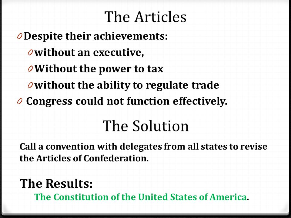 The Articles The Solution The Results: Despite their achievements: