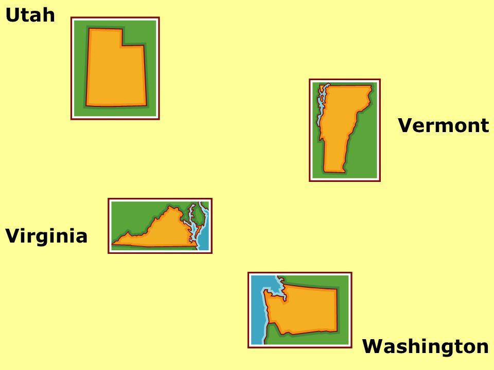 Utah Vermont Virginia Washington