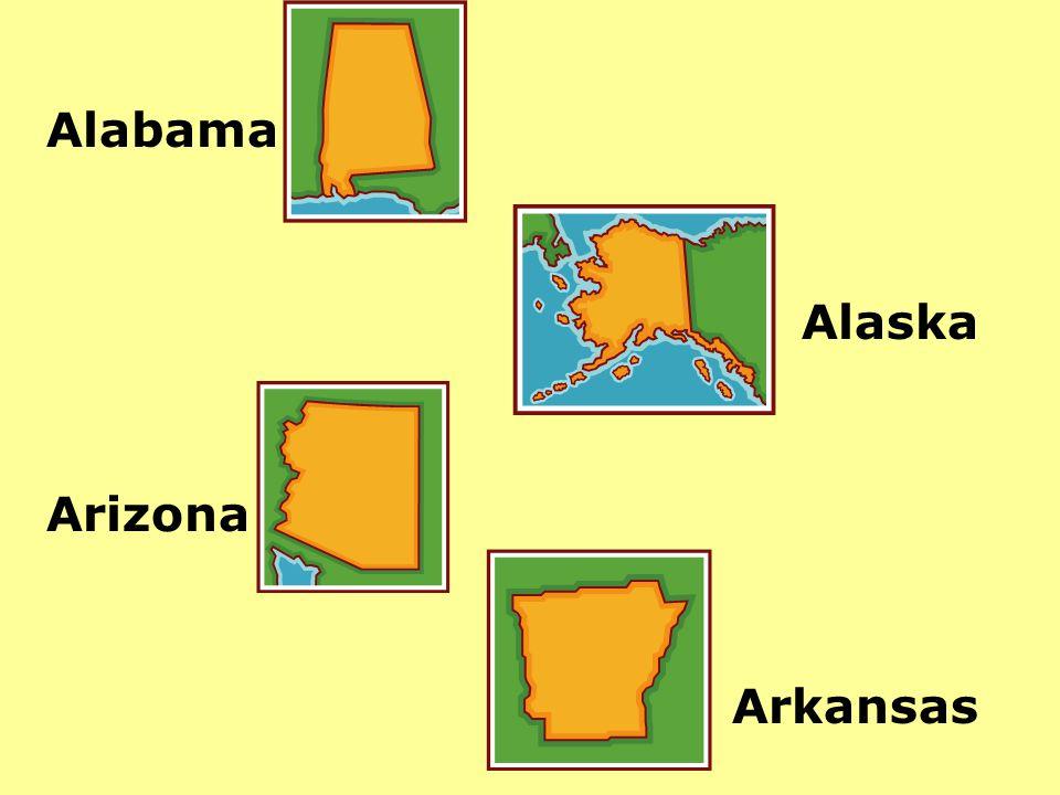 Alabama Alaska Arizona Arkansas