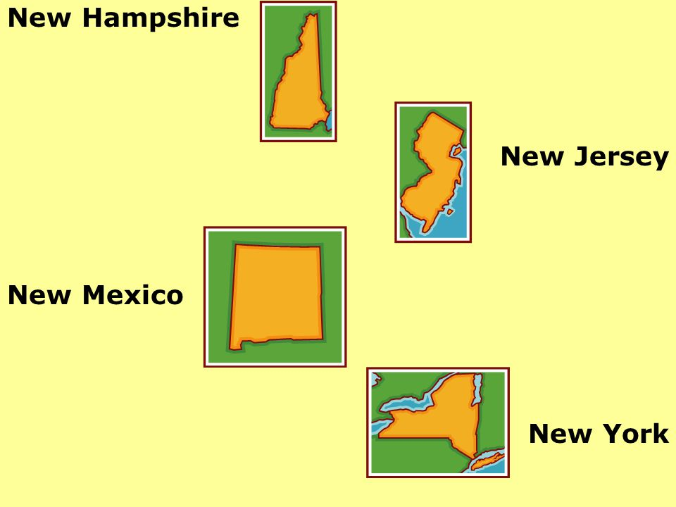 New Hampshire New Jersey New Mexico New York