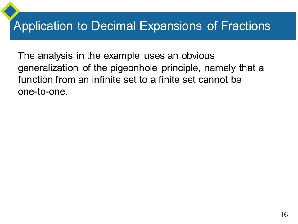 Application to Decimal Expansions of Fractions