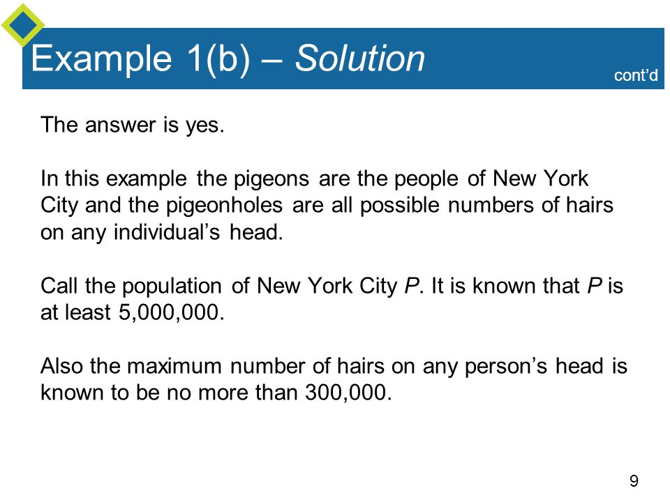 Example 1(b) – Solution The answer is yes.