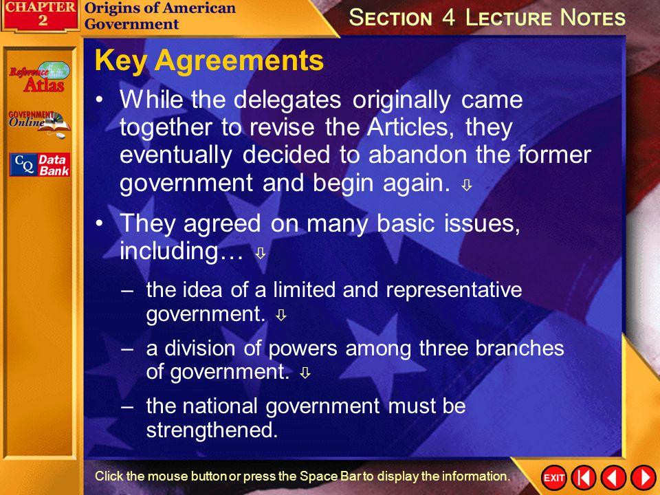 Key Agreements