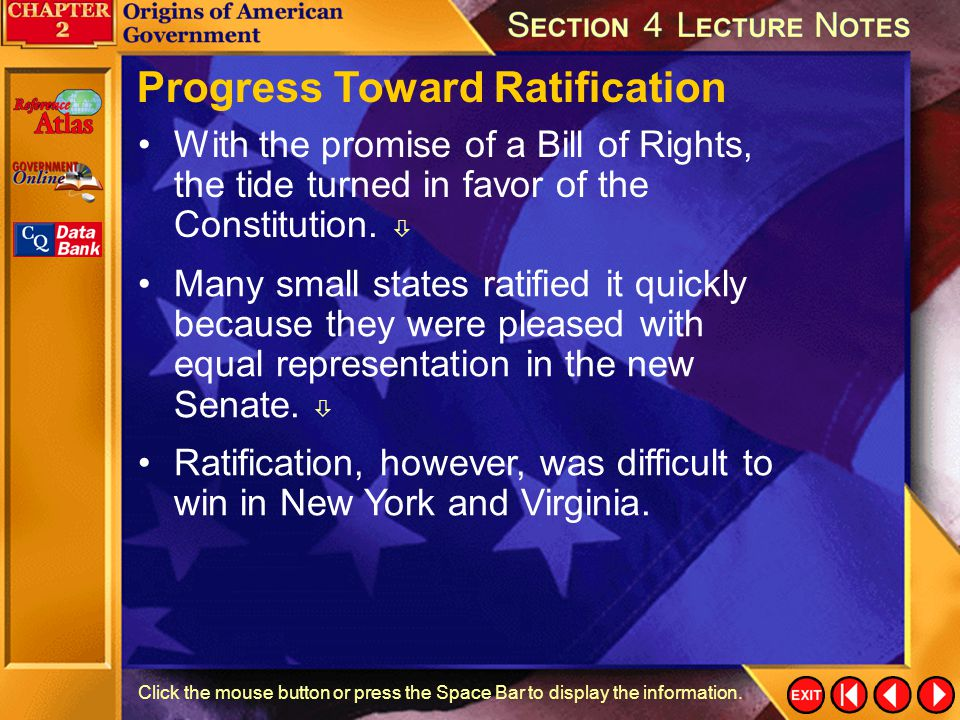 Progress Toward Ratification