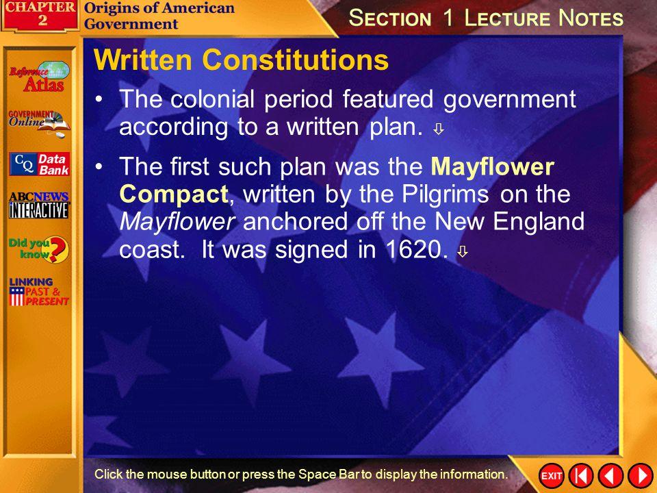 Written Constitutions