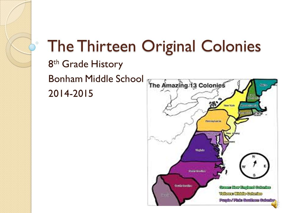 The Thirteen Original Colonies