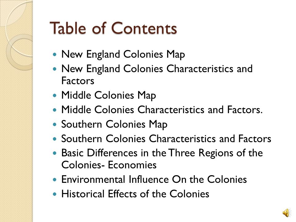 Colonial Regions New England Middle Colonies Southern