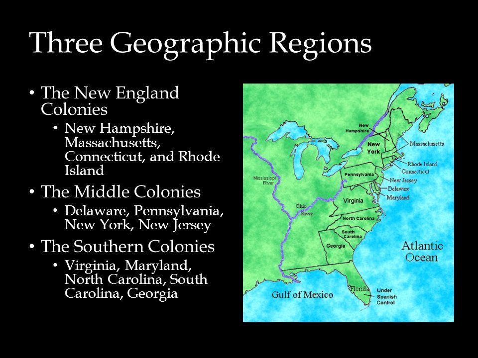 Three Geographic Regions