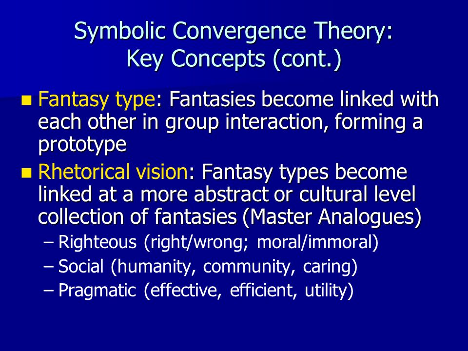 Symbolic Convergence Theory: Key Concepts (cont.)
