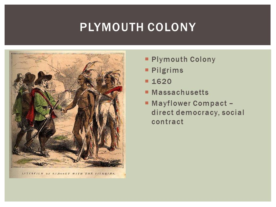 Plymouth Colony Plymouth Colony Pilgrims 1620 Massachusetts