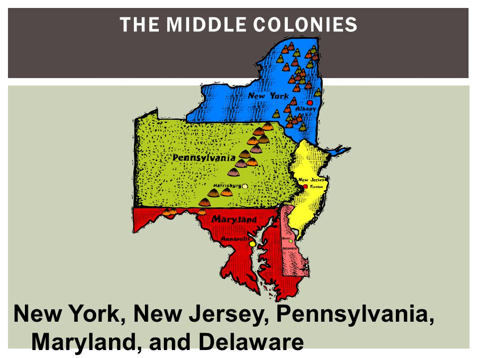 New York, New Jersey, Pennsylvania, Maryland, and Delaware
