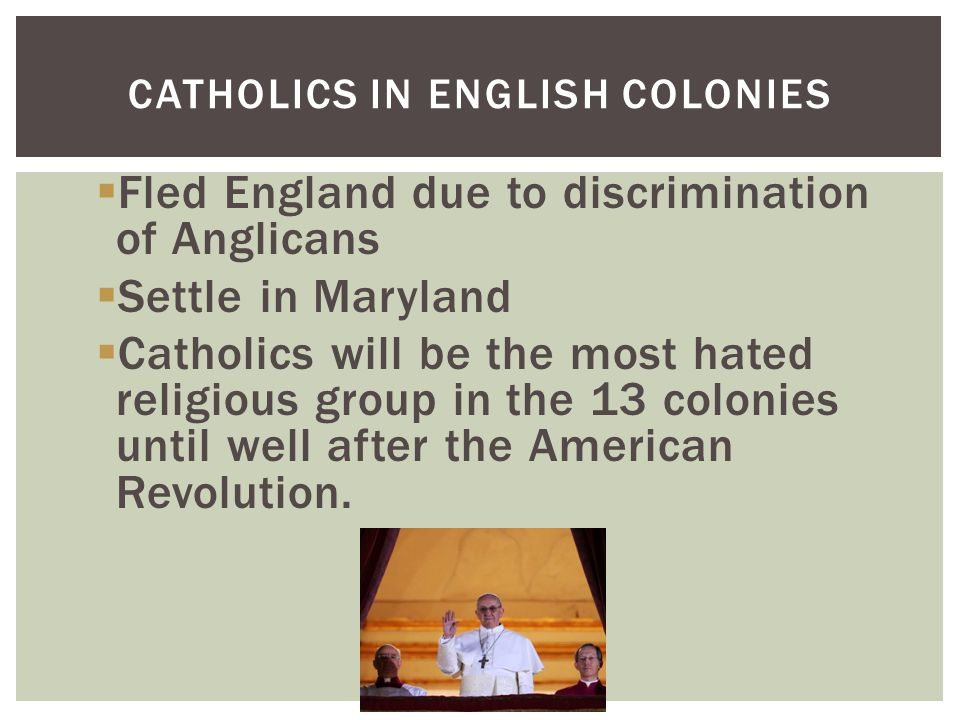 Catholics in English Colonies