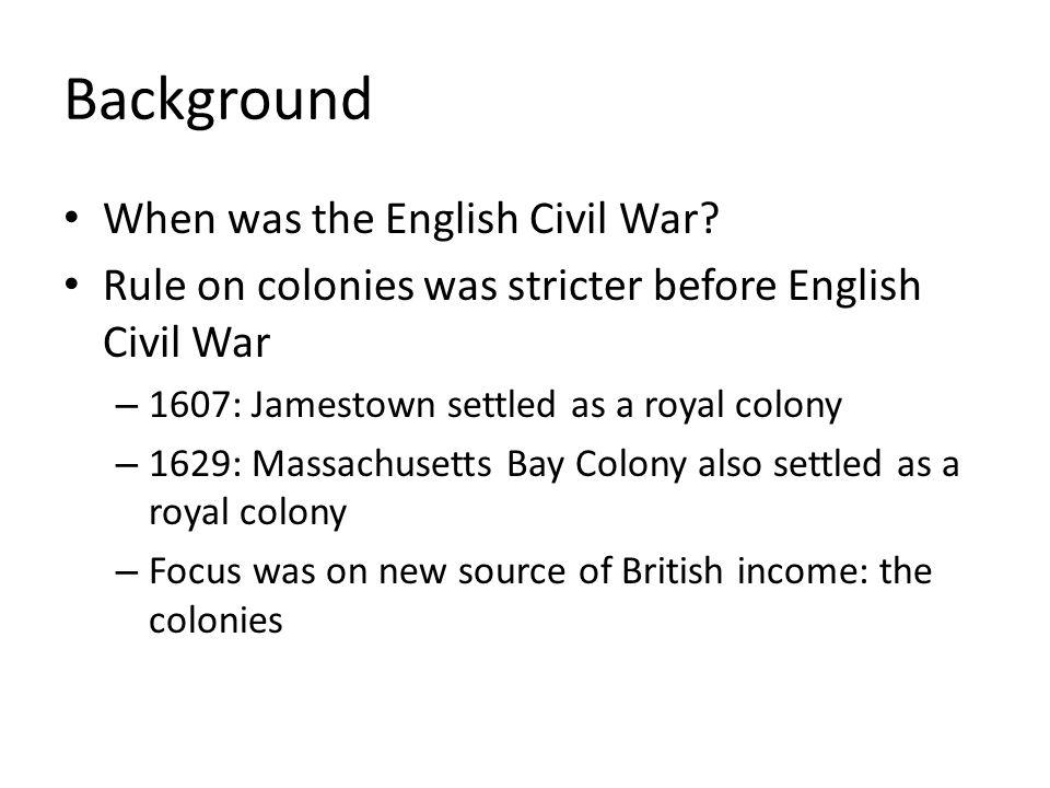 Background When was the English Civil War
