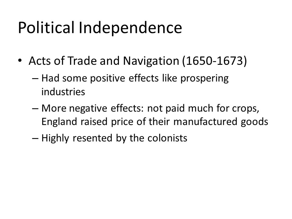Political Independence