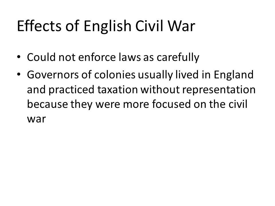 Effects of English Civil War