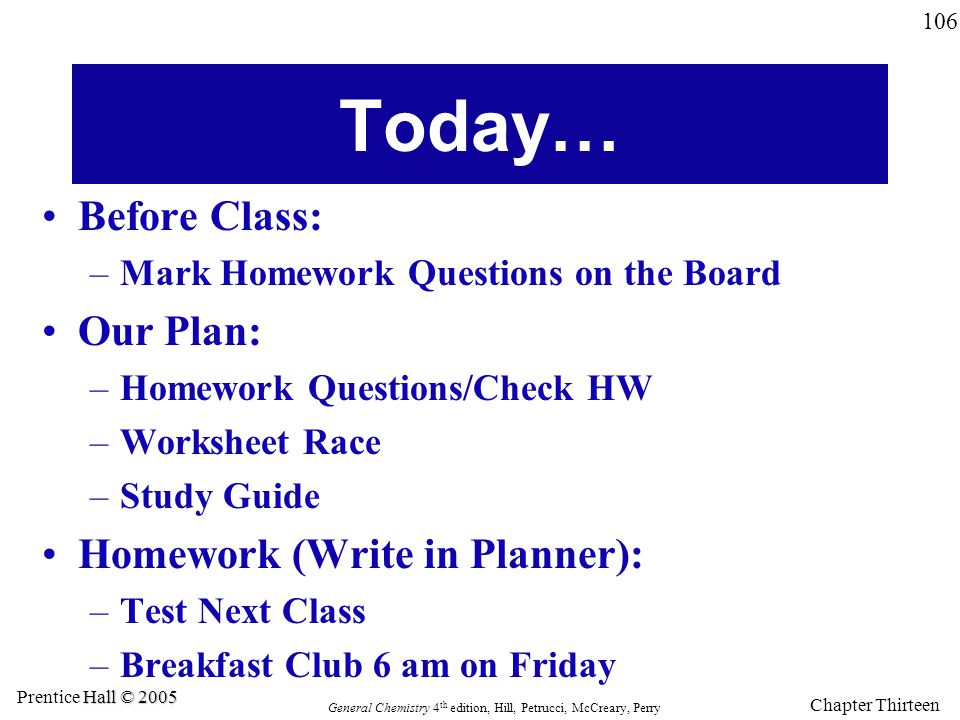Today… Before Class: Our Plan: Homework (Write in Planner):