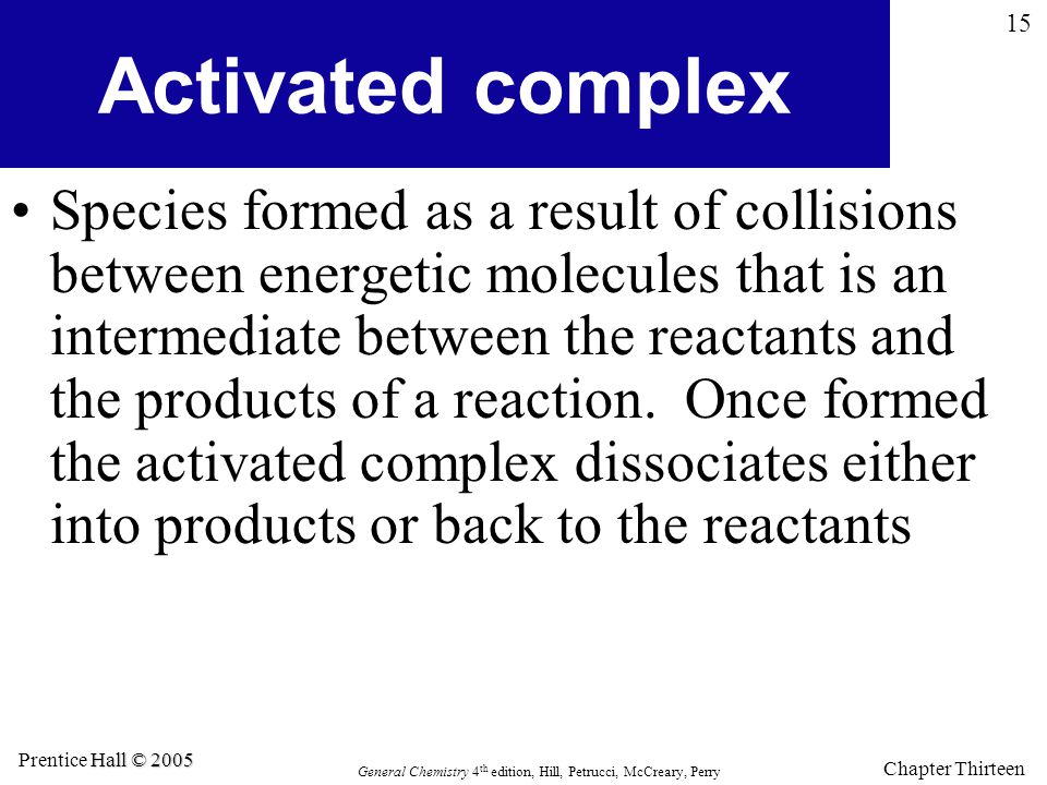 Activated complex