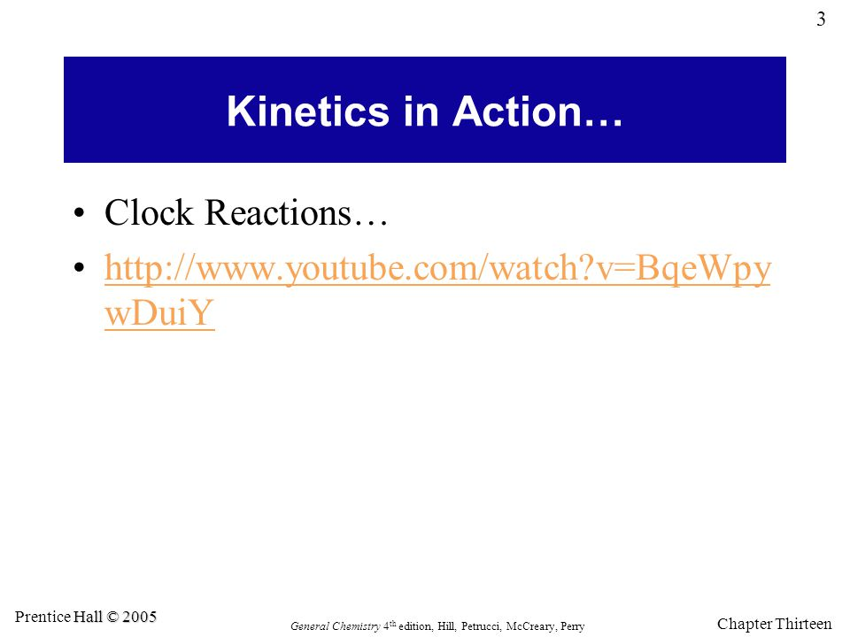 Kinetics in Action… Clock Reactions…