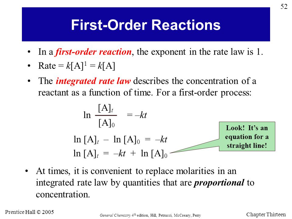 First-Order Reactions