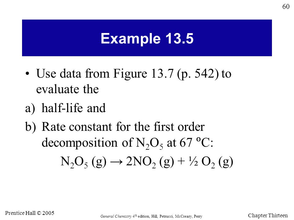 Example 13.5 Use data from Figure 13.7 (p. 542) to evaluate the
